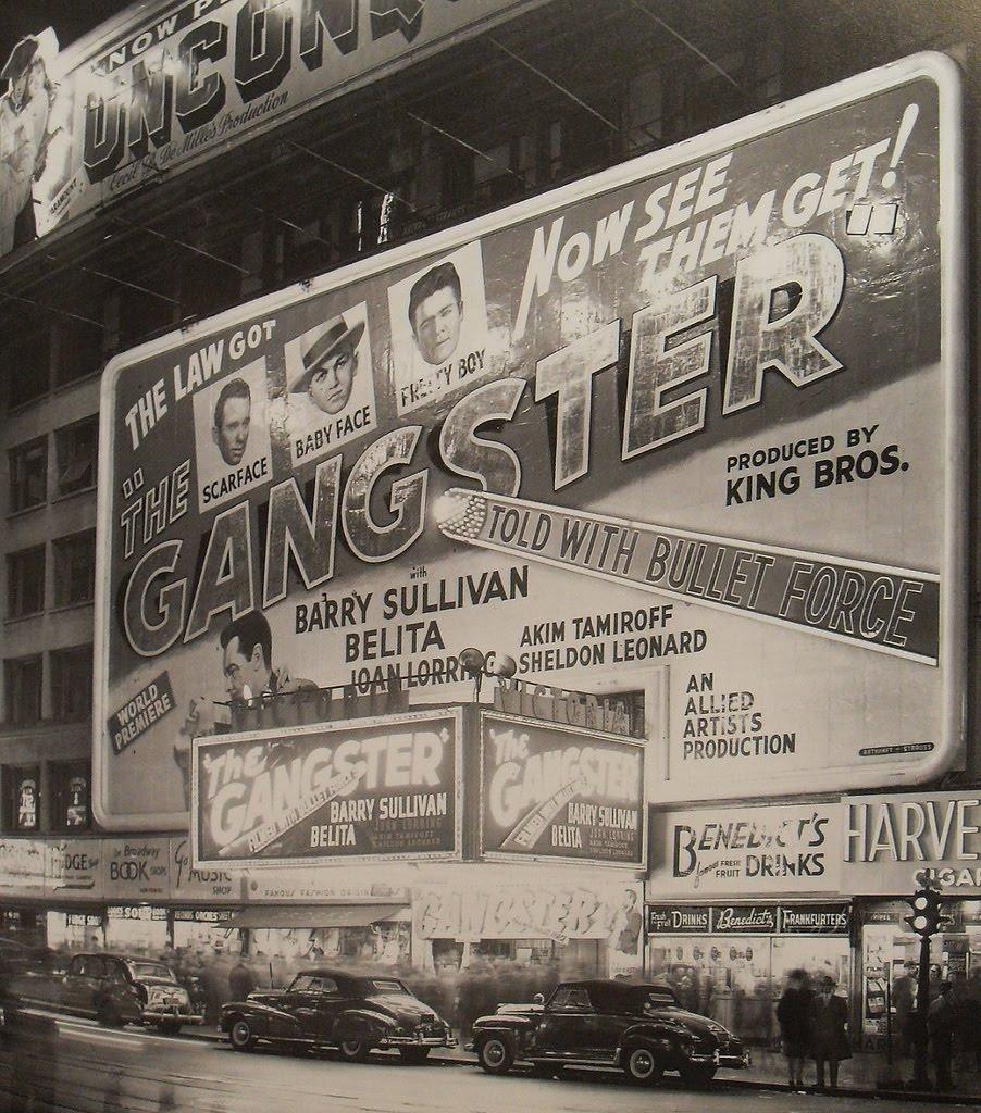 The Gangster Schild bei einem Kino